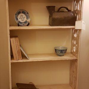 Libreria étagère in legno di ciliegio laccata a mano, quattro cassetti. Arredamento contemporaneo Siena e Firenze
