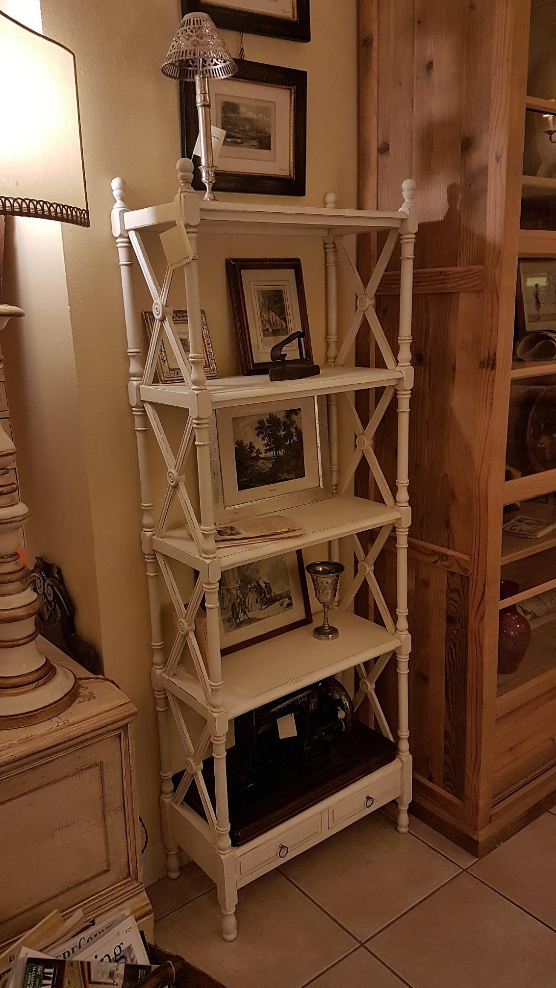 Simple libreria tagre stile inglese in legno di ciliegio for Mobili in inglese