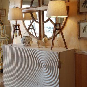 credenza in frassino massello antico sbiancato tre porte nature design, Zen. Arredamento contemporaneo su misura Siena e Firenze