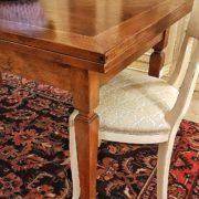 tavolo noce nazionale allungabile realizzabile a misura arredamento classico contemporaneo particolare