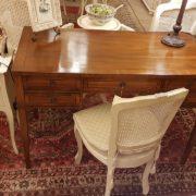 Scrivania lastronata in legno di noce, cinque cassetti piano rettangolare. Arredamento contemporaneo Siena e Firenze (2)