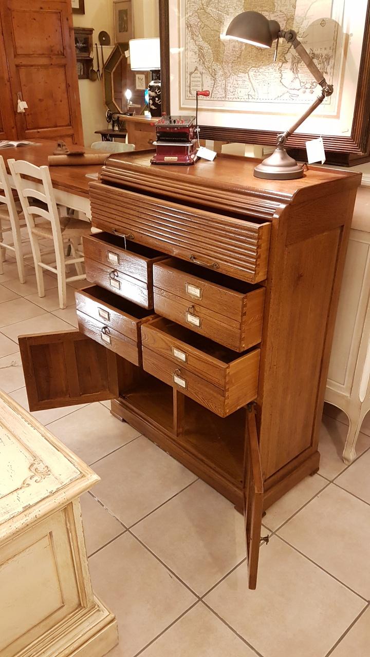 Arredamento contemporaneo mobili country su misura siena firenze cassettiera schedario in - Mobili di legno ...