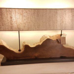 Lampada Sunset Nature Design in legno antico spazzolato con radici di mangrovie. Arredamento contemporaneo Siena e Firenze