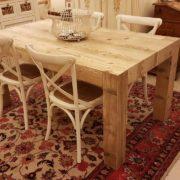 Tavolo rettangolare in legno di abete antico allungabile. Arredamento contemporaneo su misura Siena e Firenze (7)