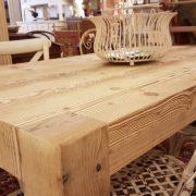 Tavolo rettangolare in legno di abete antico allungabile. Arredamento contemporaneo su misura Siena e Firenze (8)