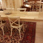 Tavolo rettangolare in legno di abete antico allungabile.Allungato. Arredamento contemporaneo su misura Siena e Firenze
