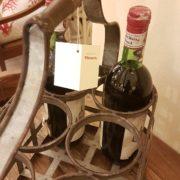 Porta bottiglie antico toscano in ferro zincato. I separatori. Mobili antichi Siena e Firenze