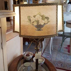 Lampada torciera tipo lume a olio con base in fusione di ottone. Arredamento classico contemporaneo Siena e Firenze (2)