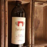 Pannello porta bottiglie realizzato unendo sei antichi stampi in legno per mattoni. Particolare. Mobili country Siena e Firenze