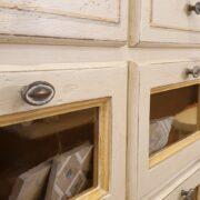 Cassettiera Dispensa Credenza in legno di tiglio laccata a mano.Arredamento classico contemporaneo Siena e Firenze (4)