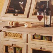 Cassettiera Dispensa Credenza in legno di tiglio laccata a mano.Arredamento classico contemporaneo Siena e Firenze (6)