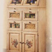 Cassettiera Dispensa Credenza in legno di tiglio laccata a mano.Arredamento classico contemporaneo Siena e Firenze (9)