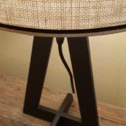 Coppia di lampade Aura con base in ferro e paralume cilindrico.Particolare cappello.Arredamento classico contemporaneo Siena e Firenze