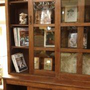Libreria coloniale antica in legno di teak primi '900.Ante aperte.Mobili antichi Siena e Firenze