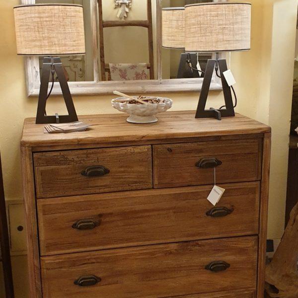 Cassettone in legno di abete antico massello. Arredamento classico contemporaneo Siena e Firenze.