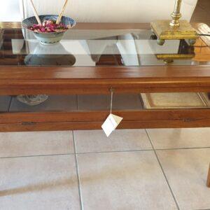 Tavolino da fumo in legno di ciliegio a bacheca. Arredamento classico contemporaneo Siena e Firenze