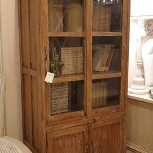 Vetrina antica in legno di olmo dei primi del '900 in finitura dekapé. Mobili antichi Siena Firenze