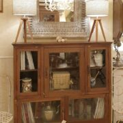 Vetrina antica primi '900 in legno di teak. Mobili antichi Siena e Firenze