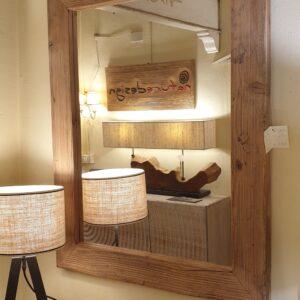 Specchiera in legno di larice antico. Mobili antichi Siena e Firenze.