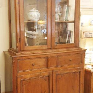 Credenza con alzata a vetrina Toscana in legno di larice antico fine '800. Mobili antichi Siena e Firenze