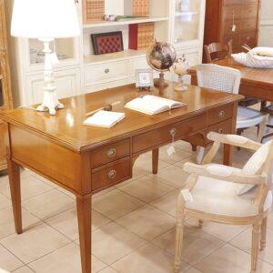 Scrittoio in legno di ciliegio in stile Direttorio a 5 cassetti. Arredamento classico contemporaneo su misura Siena e Firenze