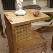 Comodini in legno di abete anticato con 1 cassetto e 1 ripiano. Sinistro. Arredamento classico contemporaneo su misura Siena e Firenze