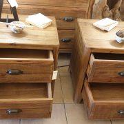 Coppia di comodini in legno di abete antico. Arredamento classico contemporaneo Siena e Firenze (7)