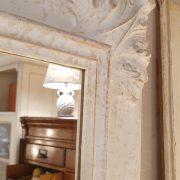 Specchiera in legno rettangolare laccata a mano in colore avorio. Arredamento classico contemporaneo su misura Siena e Firenze (4)